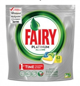 Fairy Platinum All in One 63 sztuki kapsułki do zmywarek